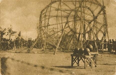 Немачки цепелин оборен у Солуну, 1916.