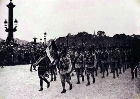 Парада српске војске кроз Париз, 14.07.1918.