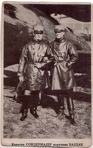 Пилоти, капетан Тадија Сондермајер и поручник Леонид Бајдак.