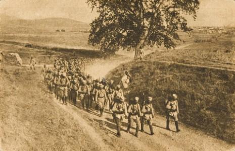 Полазак из Солуна, Петог пешадијског пука на Македонски фронт, 1916.
