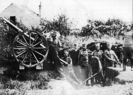 Против-авионски топ Снајдер 907.75мм, близу Београда, 21.07.1915.