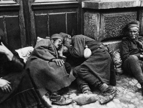 Serbian Soldier Rest in the Doorways of Belgrade, Serbia