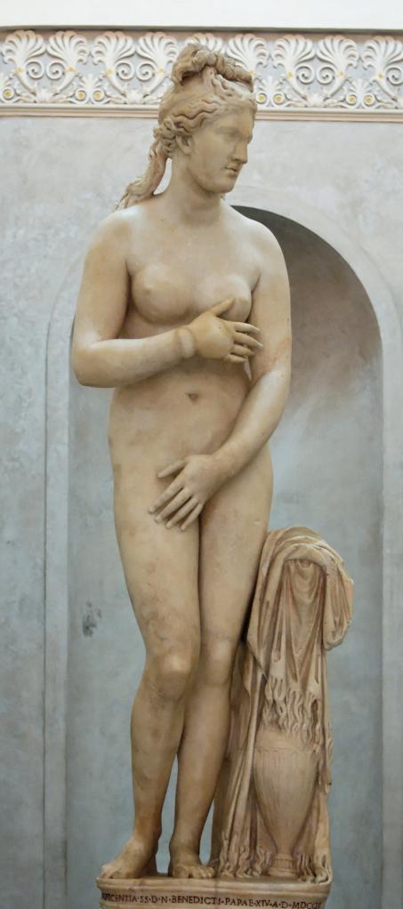 Capitoline Venus, rimska kopija sa prikrivenim gornjim i donjim delom