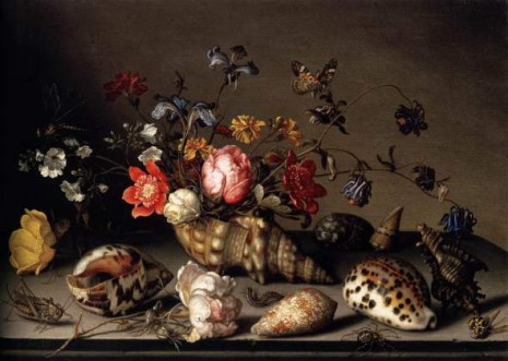 Balthasar van der Ast - Still Life with Flowers, Shells, and Insects