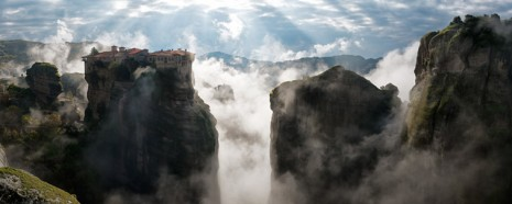 Meteora u jutarnjoj magli