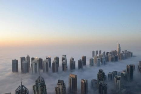 Dubai u jutarnjoj magli