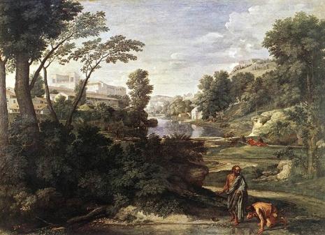 Diogen baca posudu (autor Nicolas Poussin, In the Louvre, 1647.)