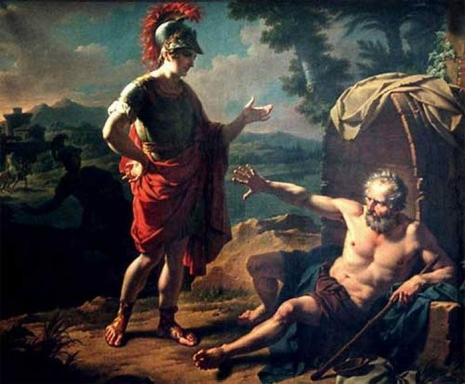 Diogen i Aleksandar Veliki (autor nepoznat)