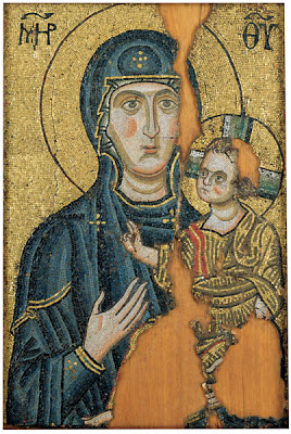Bogorodica – najstarija hilandarska ikona, jedina u mozaiku