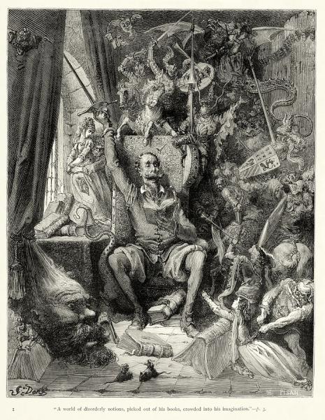 Густав Доре, илустрација за Кихота