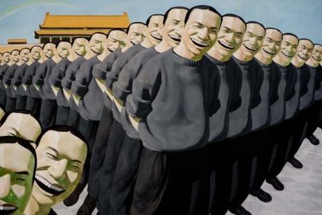 yuE_MiNJuN_02 - Great joy, 1993. Oil on canvas (187 X 254 cm)