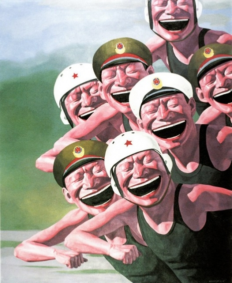 yuE_MiNJuN_03 - Hats Series - Armed Forces. Oil on canvas (167 X 140 cm)