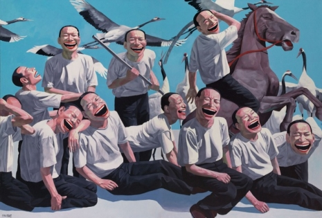 yuE_MiNJuN_04 - The Massacre at Chios, 1995-1996. Oil on canvas (250 X 364 cm)
