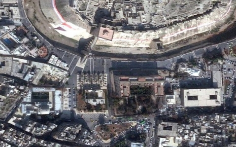 Aleppo in December 2011. Image ©DigitalGlobe | U.S. Department of State, NextView License | Analysis AAAS (www.telegraph.cp.uk