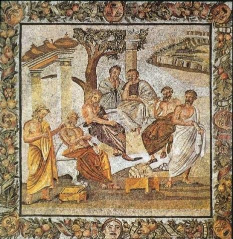 Platonova Akademija, mozaik iz Pompeje