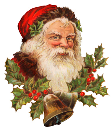 Vintage Illustration of a Classic Santa Claus Portrait.