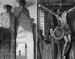 Slika 3, levo: Pol Strand, Kapija crkve, 1933. Desno, Pol Strand, Raspece Hristovo, 1933.