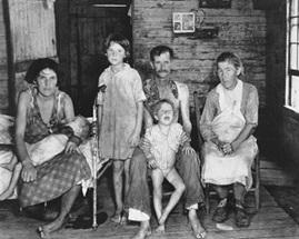 Slika 4: Voker Evans, Bad Filds i njegova porodica, 1936.