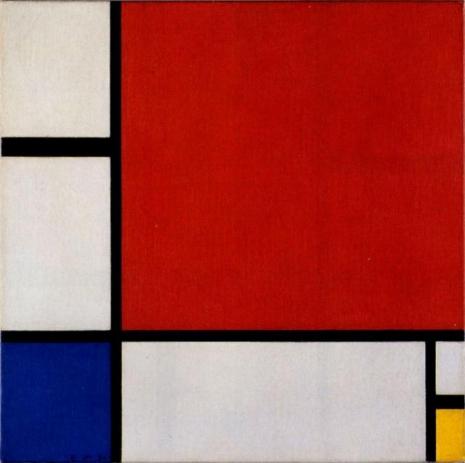 """Pit Mondrijan, """"Kompozicija II"""" (Foto: Wikimedia Commons / Public Domain)"""