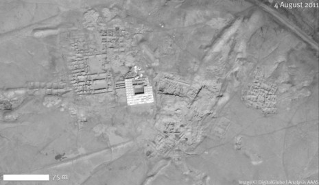 Arheološki lokalitet Mari (satelitski snimak iz 2011. godine). IZVOR: http://www.aaas.org