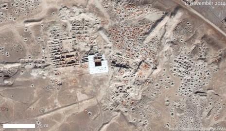 Arheološki lokalitet Mari (satelitski snimak iz 2014. godine). IZVOR: http://www.aaas.org