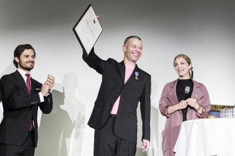 Tilmans na dodeli Haselblad nagrade. Fotografija u vlasništvu Haselblad fondacije. Foto: Emma Svensson/Studio Emma Svensson