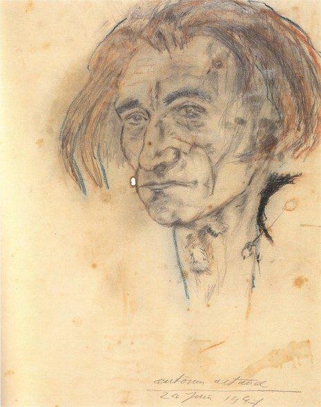 Autoportret A. Artoa iz 1947.