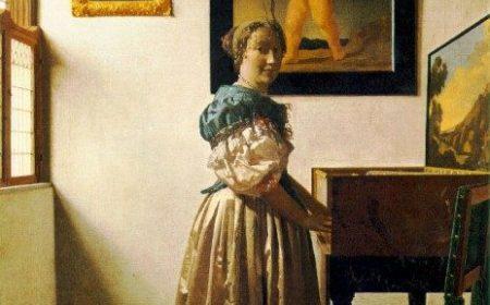 """Barok, Vermer i """"Žena stoji i svira na virginalu"""""""