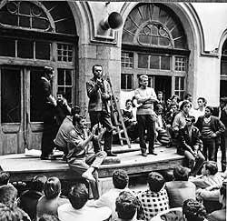Govor u zgradi Rektorata