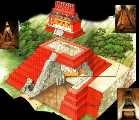 Stepenasta piramida iz Palenquea – presjek.