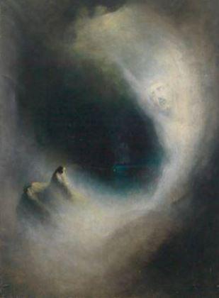 """Karl Whilem Diefenbach - Visione (ova slika se donekle nadovezuje na ideje iz rada, """"Pojam uma kao arhea"""", gde u prirodu (čovekov) um nailazi na umnost u prirodi, (božanski) um, otud na neki način vidi svoj odraz - jer razume)"""