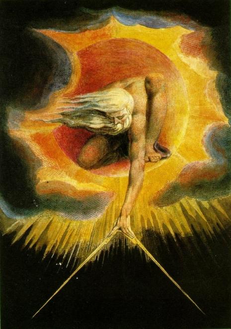 William Blake - Ancient of days (predstavljanje stvaranja)
