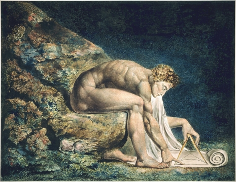 William Blake - Newton (otkrivanje inteligibilnosti prirode kroz prirodne zakone od strane čoveka)