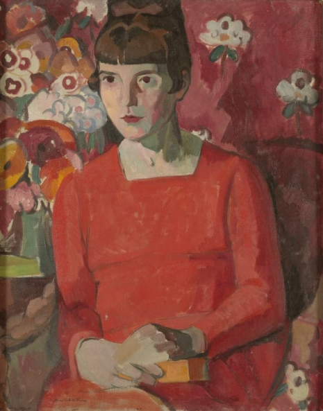Katherine Mansfield - portrait by Anne Estelle Rice - 1918