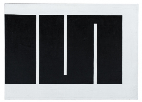 Julije Knifer, Meander, 1966, oil, canvas, 486 x 673 mm, Marinko Sudac Collection