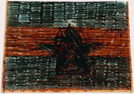 Sven Stilinović, Flag, 198485, mixed media, 350 x 470 mm, Marinko Sudac Collection