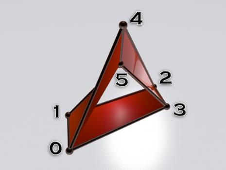 Полиедарски приказ Мебијусове траке са 3 пљосни