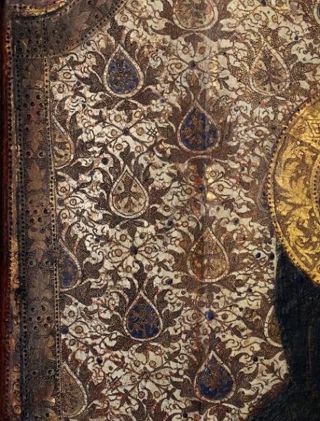 Andrea da Bologna - Madonna of Humility. Detail. 1372